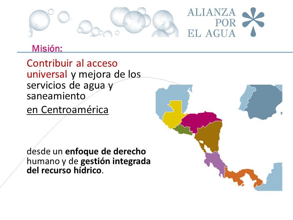 Contribuir al acceso universal y mejora de los servicios de agua y saneamiento en Centroamérica desde un enfoque de derecho humano y de gestión integr
