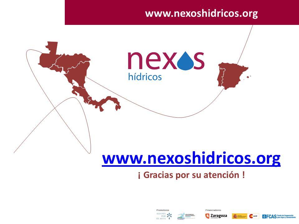 45 www.nexoshidricos.org ¡ Gracias por su atención ! www.nexoshidricos.org