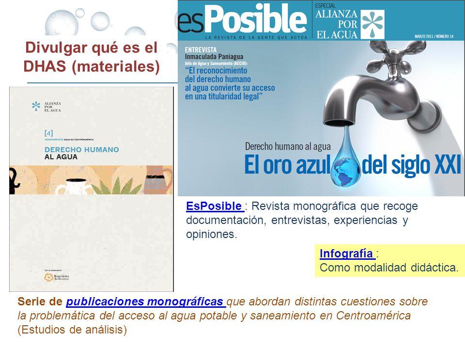 Divulgar qué es el DHAS (materiales) EsPosible EsPosible : Revista monográfica que recoge documentación, entrevistas, experiencias y opiniones. Serie
