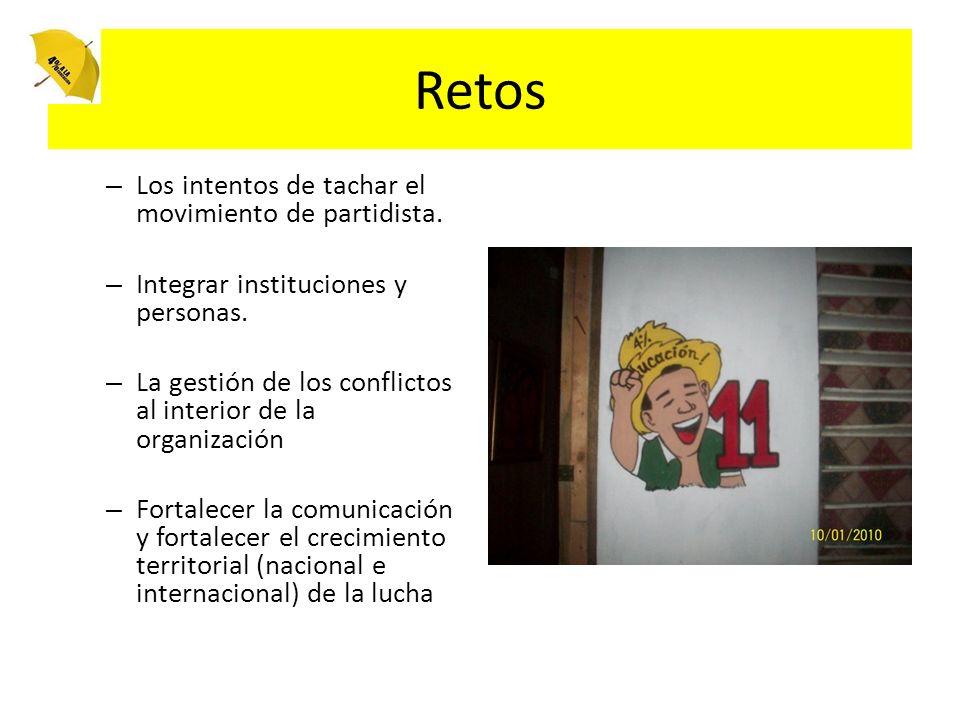 Retos – Los intentos de tachar el movimiento de partidista.