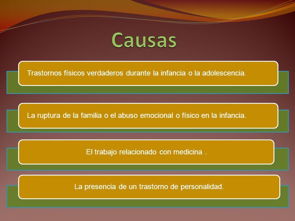 Trastornos facticios con predominio de signos y síntomas psicológicos (300.16): si los signos y síntomas que predominan en el cuadro clínico son los psicológicos.
