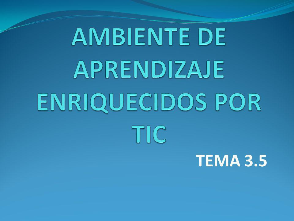 TEMA 3.5 AMBIENTES DE APRENDIZAJE ENRIQUECIDOS.