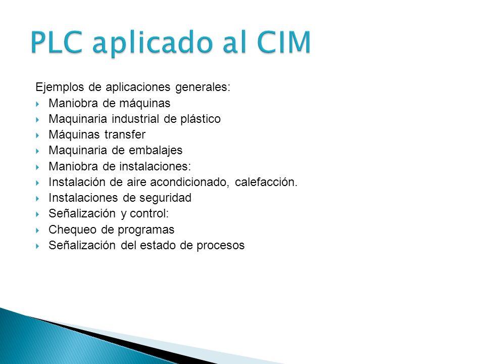 El PLC por sus especiales características de diseño tiene un campo de aplicación muy extenso. La constante evolución del hardware y software amplía co