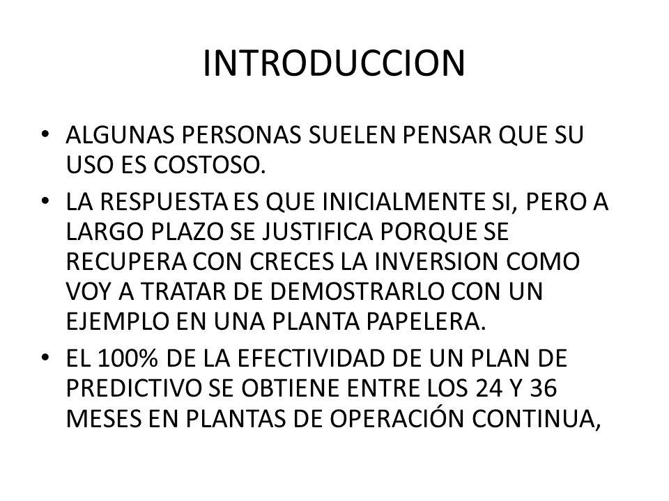 DETECCION Y ANALISIS DE FALLAS TRES ELEMENTOS QUE INCIDEN: PERSONAL BIEN CAPACITADO TENER INSTRUMENTACION BASICA TENER RUINAS CORRECTAMENTE PLANIFICADAS.