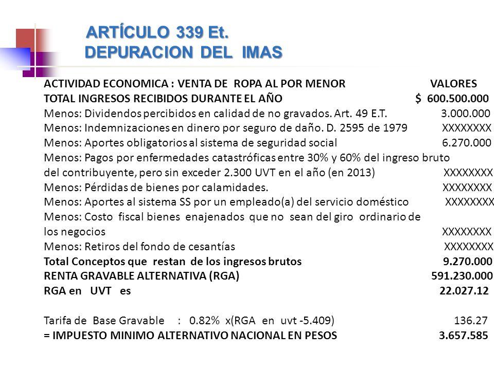 ARTÍCULO 339 Et.