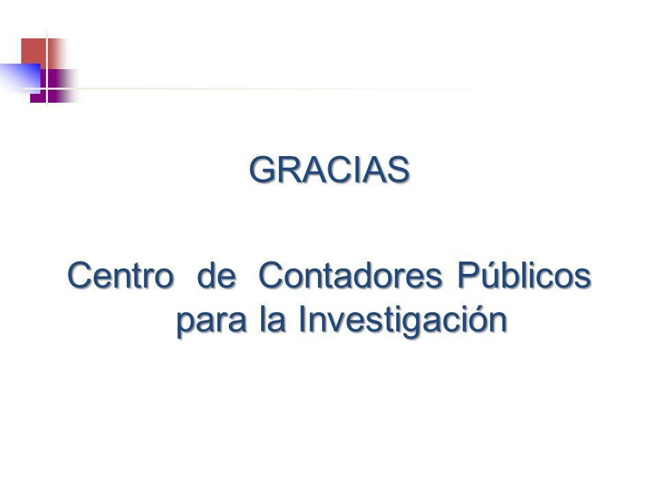 GRACIAS Centro de Contadores Públicos para la Investigación