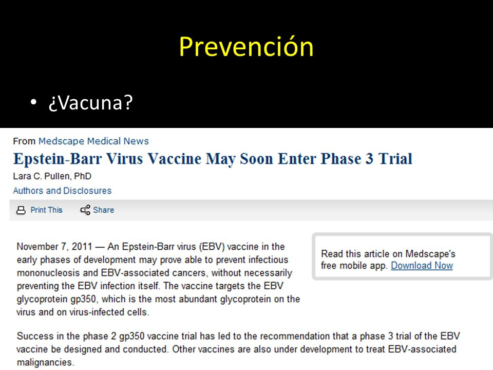 Prevención ¿Vacuna?