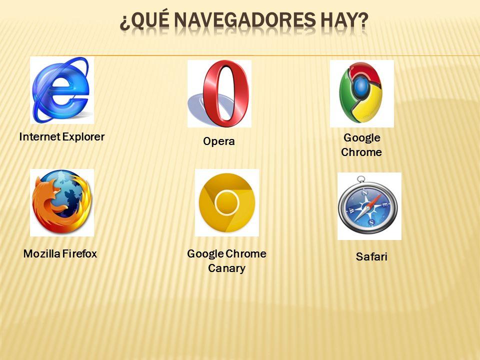 Hoy en día hay muchos navegadores para los distintos sistemas operativos (Windows, Linux, Mac).