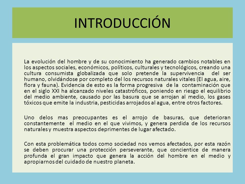 CONFORMAR UN COMITÉ AMBIENTAL El comité conformado por docentes y estudiantes, se encargara de la consecución y determinar las actividades