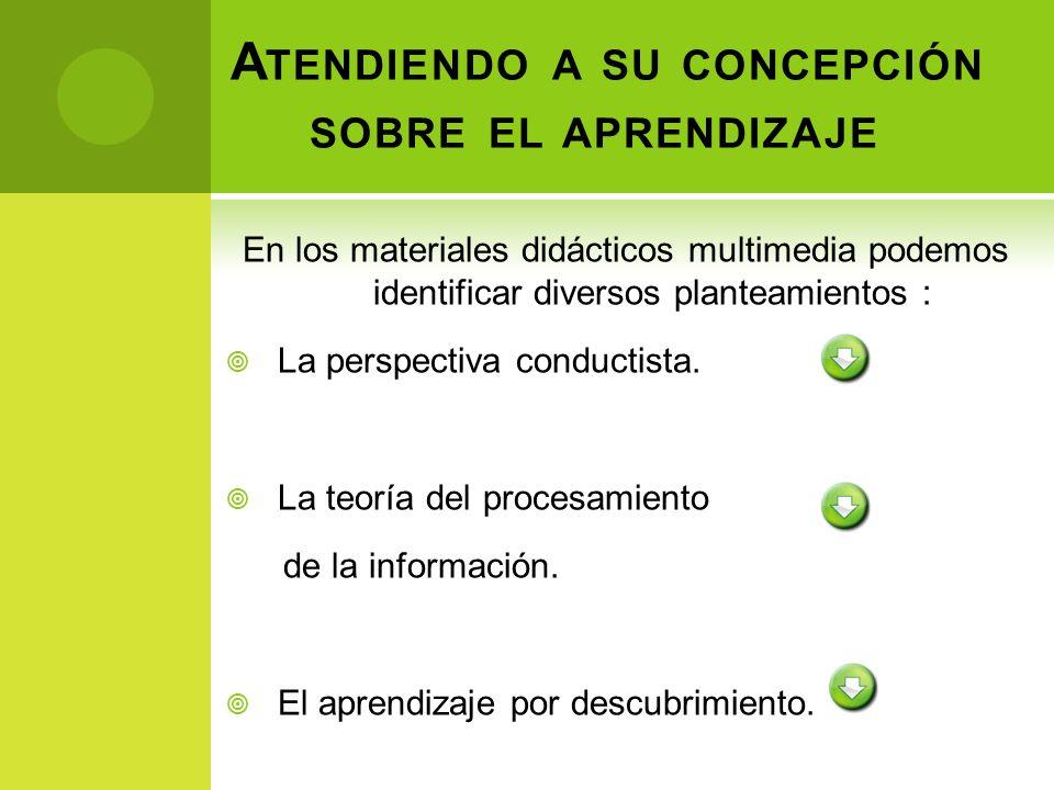 Este enfoque propone que: El aprendizaje es un proceso activo.
