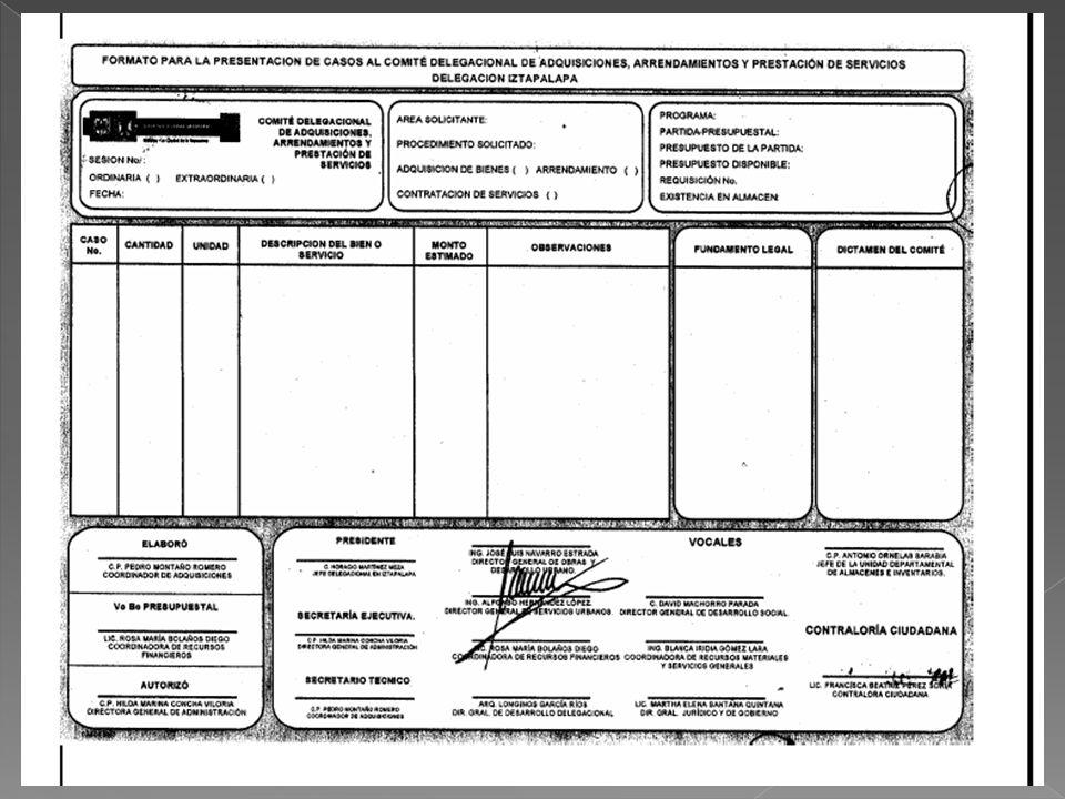 Formato de presentación Solicitud de autorización Suficiencia Presupuestal. Justificación de uso y destino de los bienes. Comparativo de Precios Infor