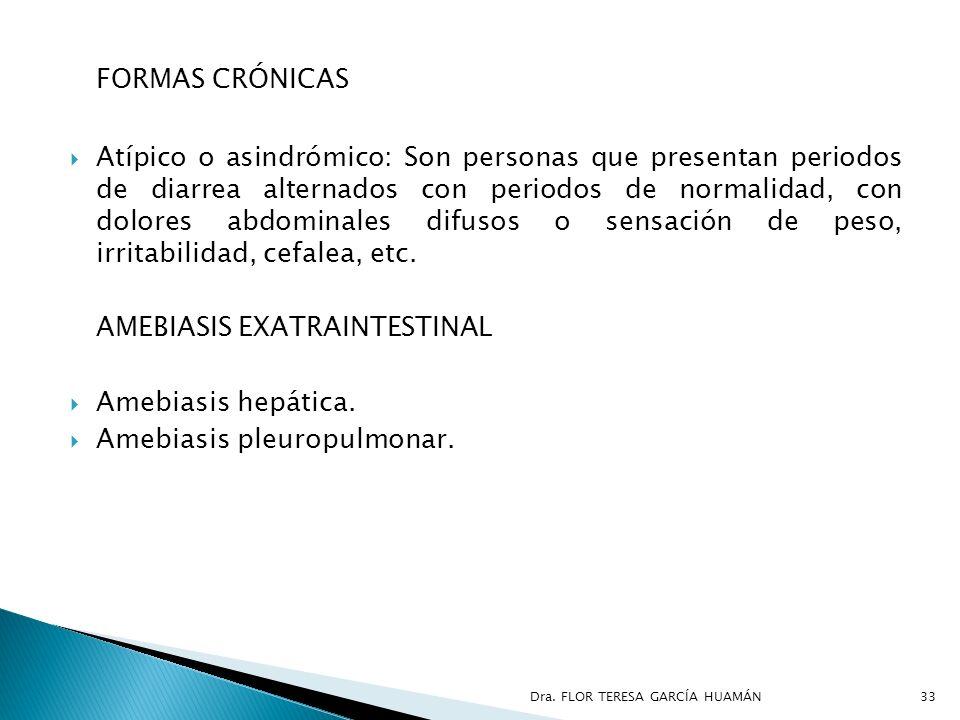 FORMAS CRÓNICAS Atípico o asindrómico: Son personas que presentan periodos de diarrea alternados con periodos de normalidad, con dolores abdominales d