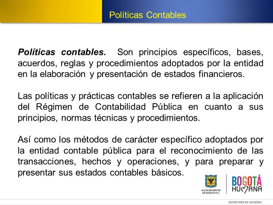 Estructura del Modelo de Políticas Estructura Modelo de Políticas Contables