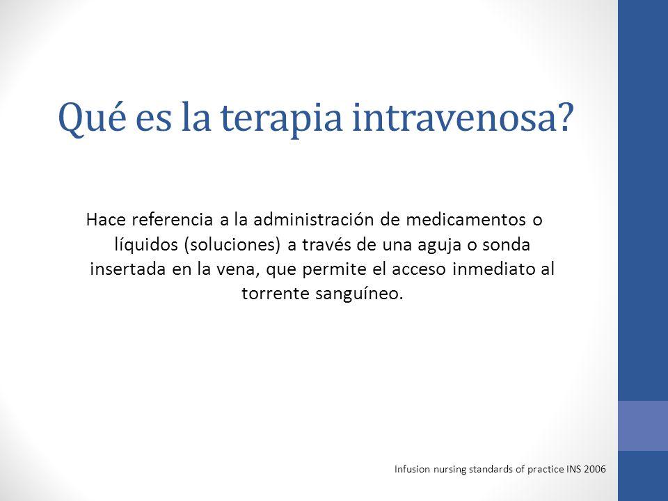 Qué es la terapia intravenosa.