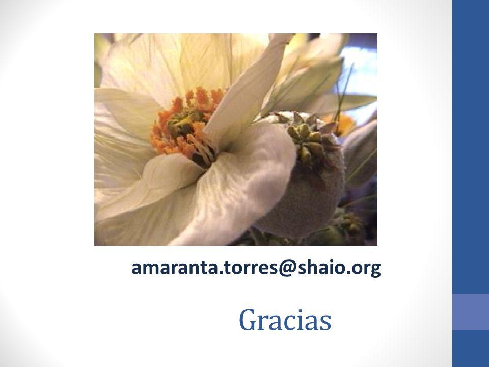 Gracias amaranta.torres@shaio.org