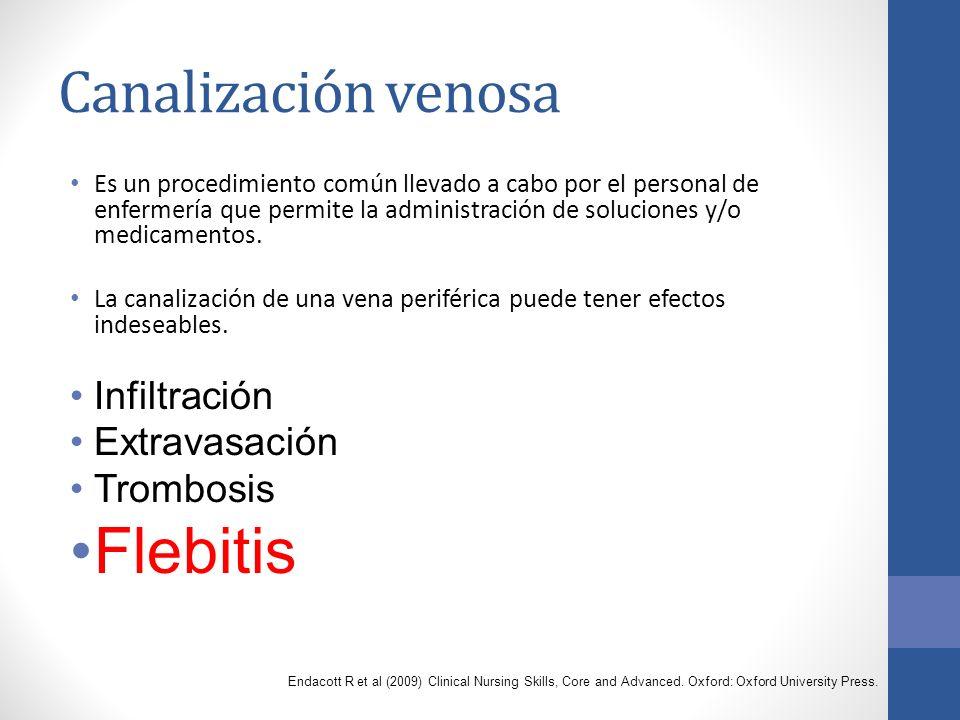 Canalización venosa Es un procedimiento común llevado a cabo por el personal de enfermería que permite la administración de soluciones y/o medicamentos.