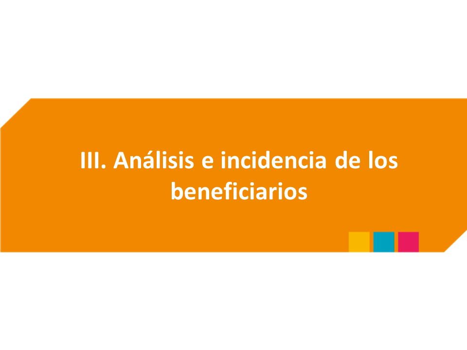 III. Análisis e incidencia de los beneficiarios