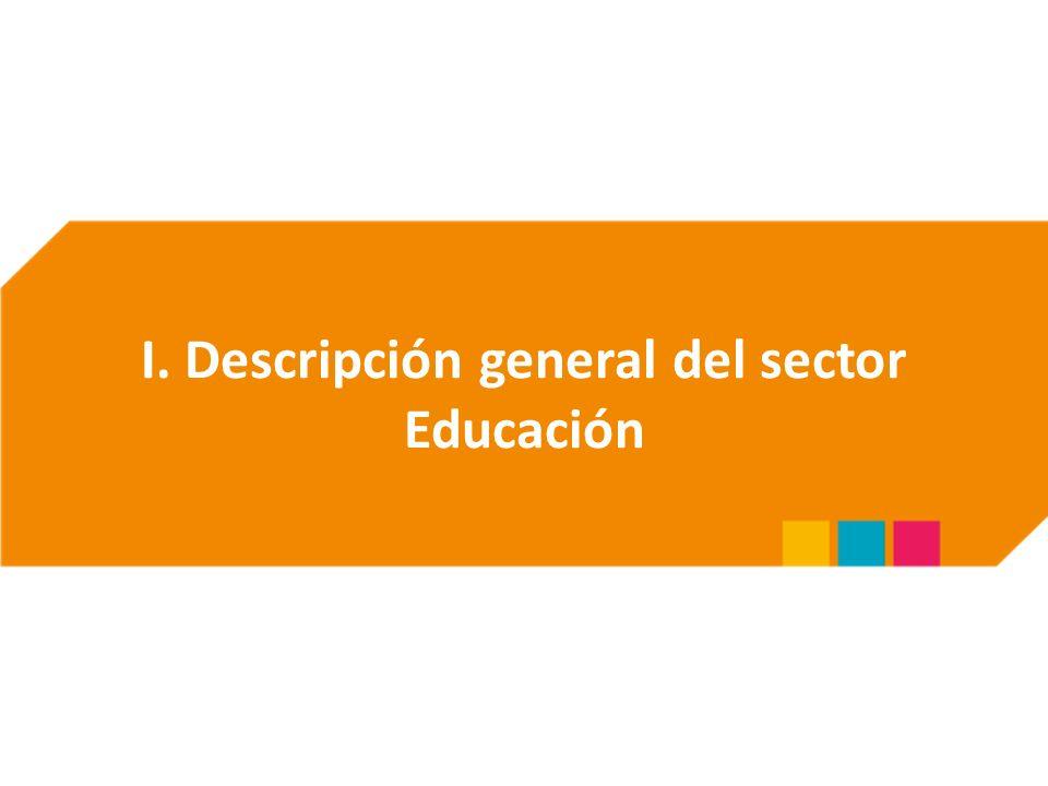 I. Descripción general del sector Educación