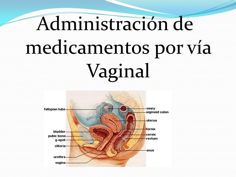 Administración de medicamentos por vía Vaginal