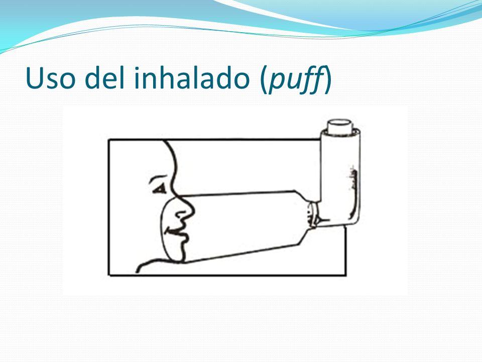 Uso del inhalado (puff)