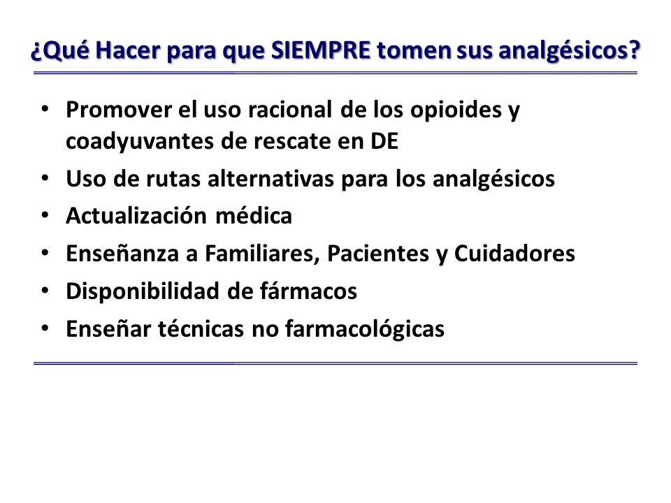 ¿Qué Hacer para que SIEMPRE tomen sus analgésicos.