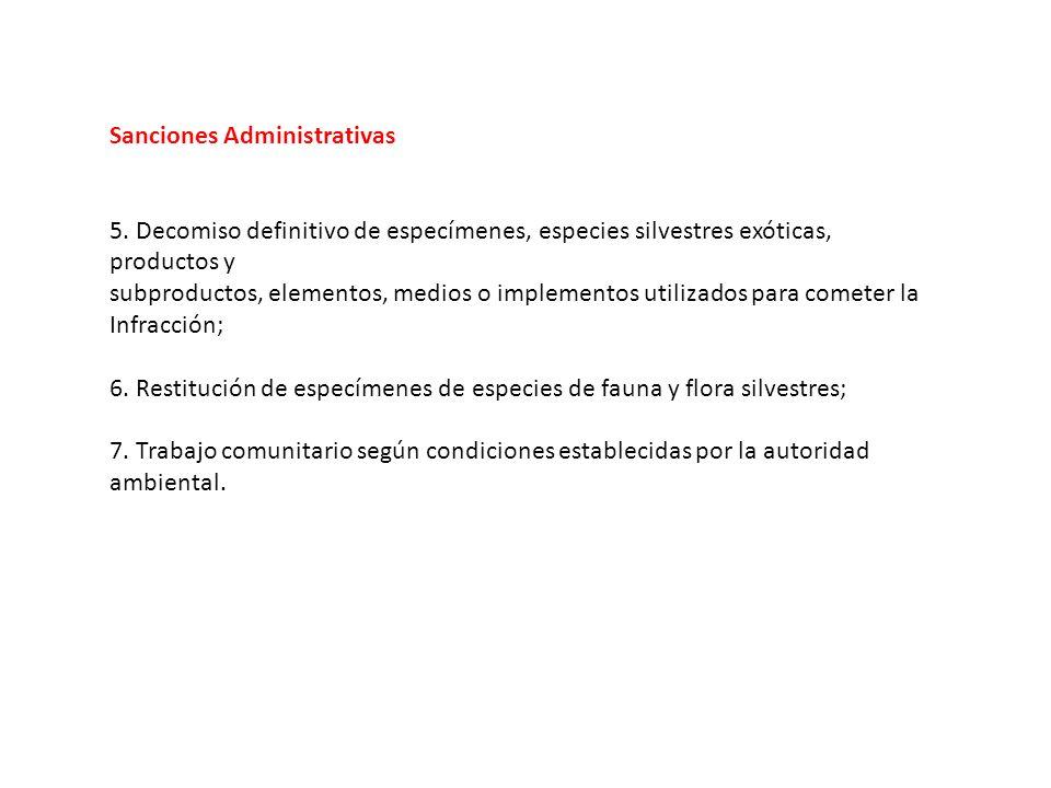 Sanciones Administrativas 5.