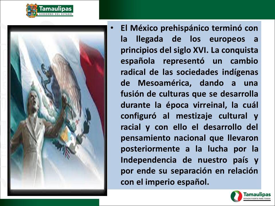 El México prehispánico terminó con la llegada de los europeos a principios del siglo XVI. La conquista española representó un cambio radical de las so