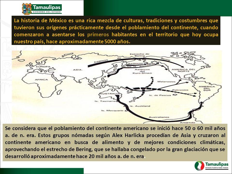 La historia de México es una rica mezcla de culturas, tradiciones y costumbres que tuvieron sus orígenes prácticamente desde el poblamiento del contin