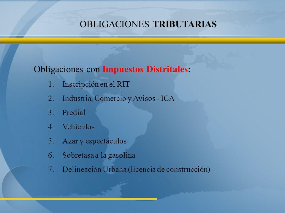 Obligaciones con Impuestos Nacionales: 1.Inscripción en el RUT.