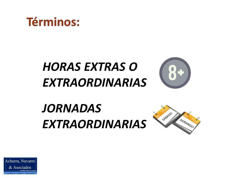 HORAS EXTRAS O EXTRAORDINARIAS JORNADAS EXTRAORDINARIAS