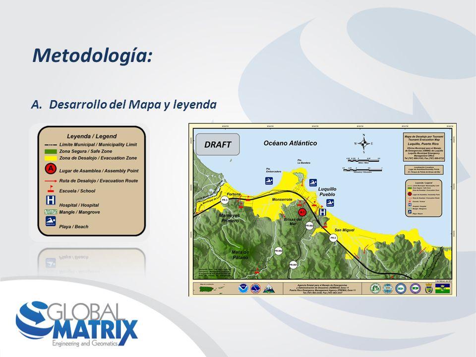 Metodología: A.Desarrollo del Mapa y leyenda