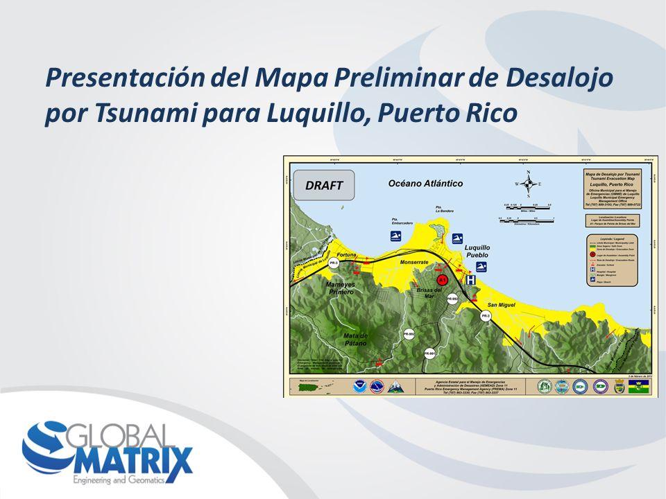 Presentación del Mapa Preliminar de Desalojo por Tsunami para Luquillo, Puerto Rico