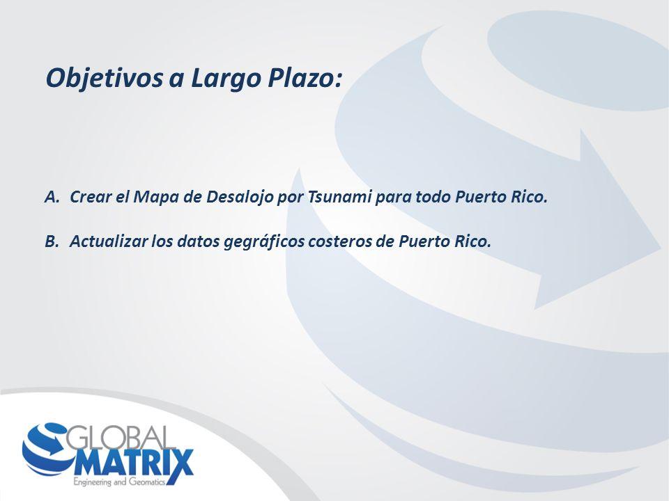 Objetivos a Largo Plazo: A.Crear el Mapa de Desalojo por Tsunami para todo Puerto Rico.