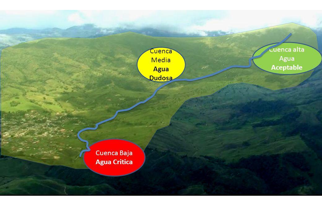 Cuenca alta Agua Aceptable Cuenca Baja Agua Critica Cuenca Media Agua Dudosa