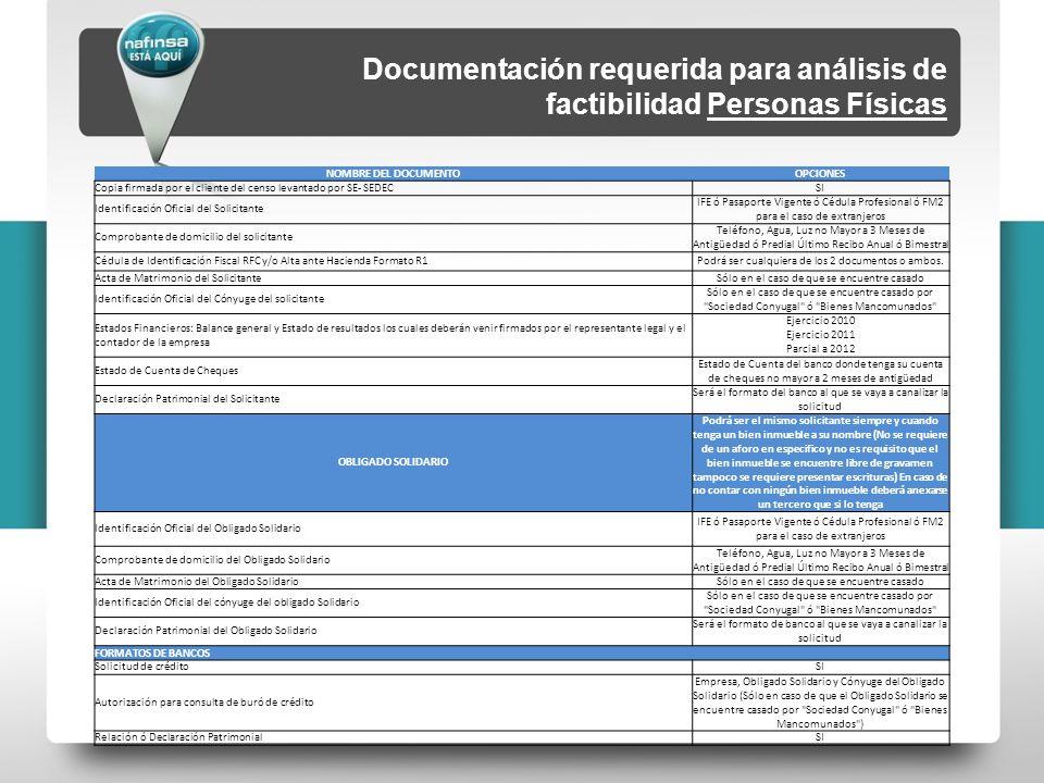 NOMBRE DEL DOCUMENTOOPCIONES Copia firmada por el cliente del censo levantado por SE- SEDECSI Identificación Oficial del Solicitante IFE ó Pasaporte V