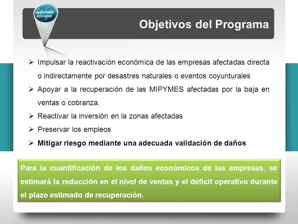 5 ConceptoCaracterísticas para el empresario CoberturaAcapulco Sujetos de apoyo Micro, pequeñas y medianas empresas, así como personas físicas con actividad empresarial, de los sectores industrial, comercial y de servicios, que hayan sufrido daños de tipo económico.