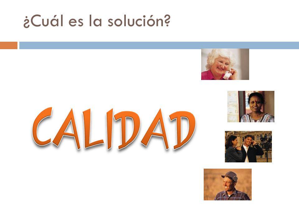 ¿Cuál es la solución?
