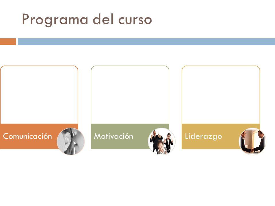 Programa del curso ComunicaciónMotivaciónLiderazgo