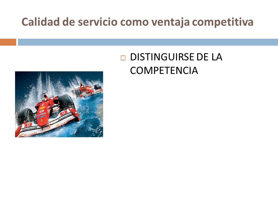 Calidad de servicio como ventaja competitiva DISTINGUIRSE DE LA COMPETENCIA