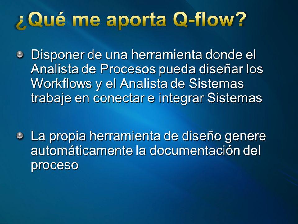 Disponer de una herramienta donde el Analista de Procesos pueda diseñar los Workflows y el Analista de Sistemas trabaje en conectar e integrar Sistemas La propia herramienta de diseño genere automáticamente la documentación del proceso