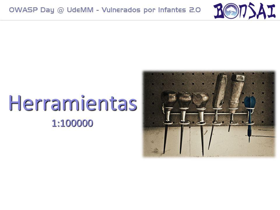 13 OWASP Day @ UdeMM - Vulnerados por Infantes 2.0 Herramientas 1:100000