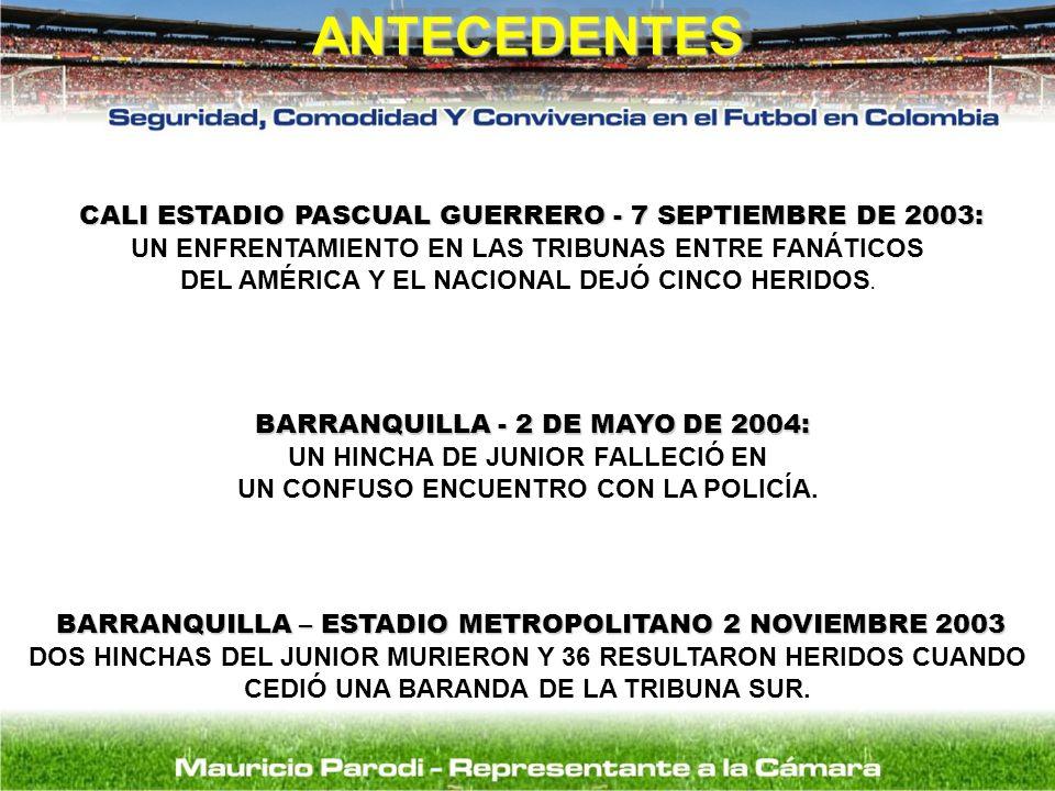 CALI ESTADIO PASCUAL GUERRERO - 7 SEPTIEMBRE DE 2003: CALI ESTADIO PASCUAL GUERRERO - 7 SEPTIEMBRE DE 2003: UN ENFRENTAMIENTO EN LAS TRIBUNAS ENTRE FA