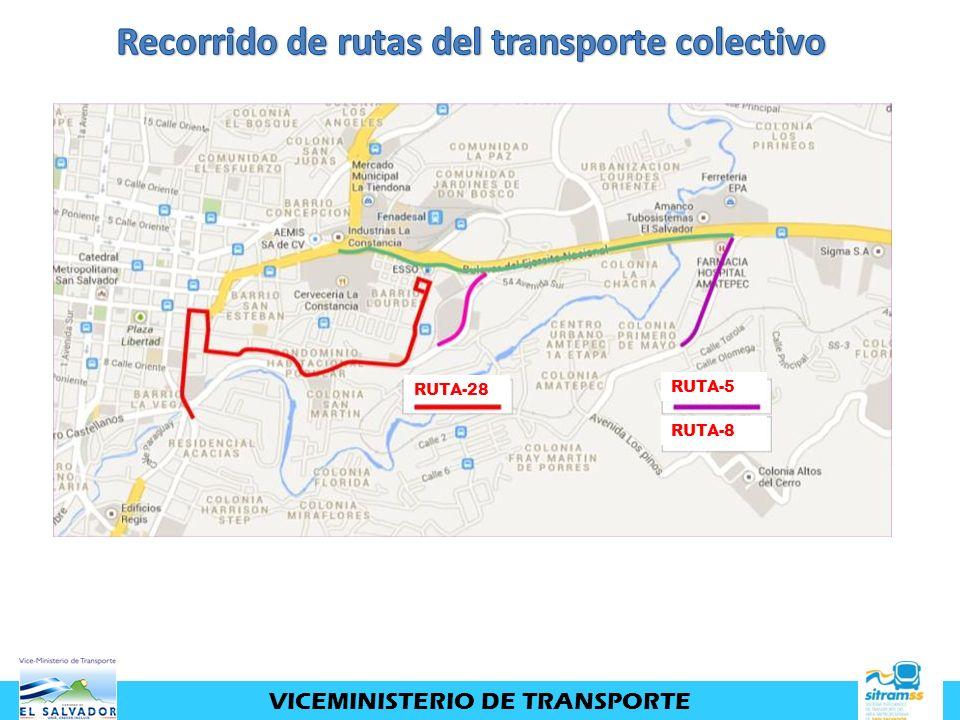 VICEMINISTERIO DE TRANSPORTE RUTA-28 RUTA-5 RUTA-8