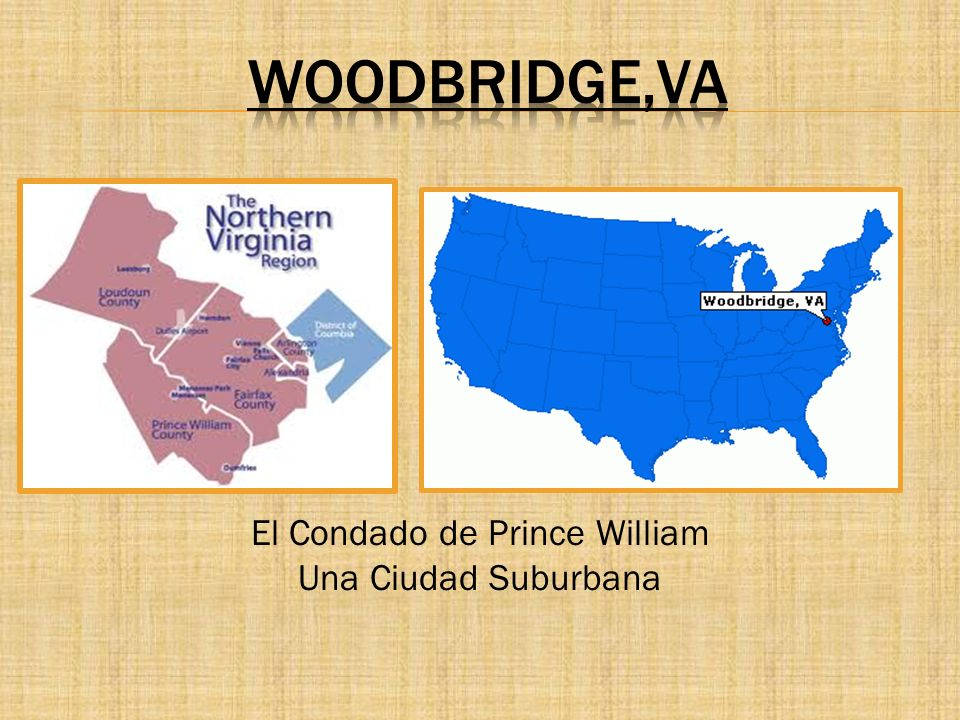 Woodbridge es una ciudad ubicada en el condado de Prince William.