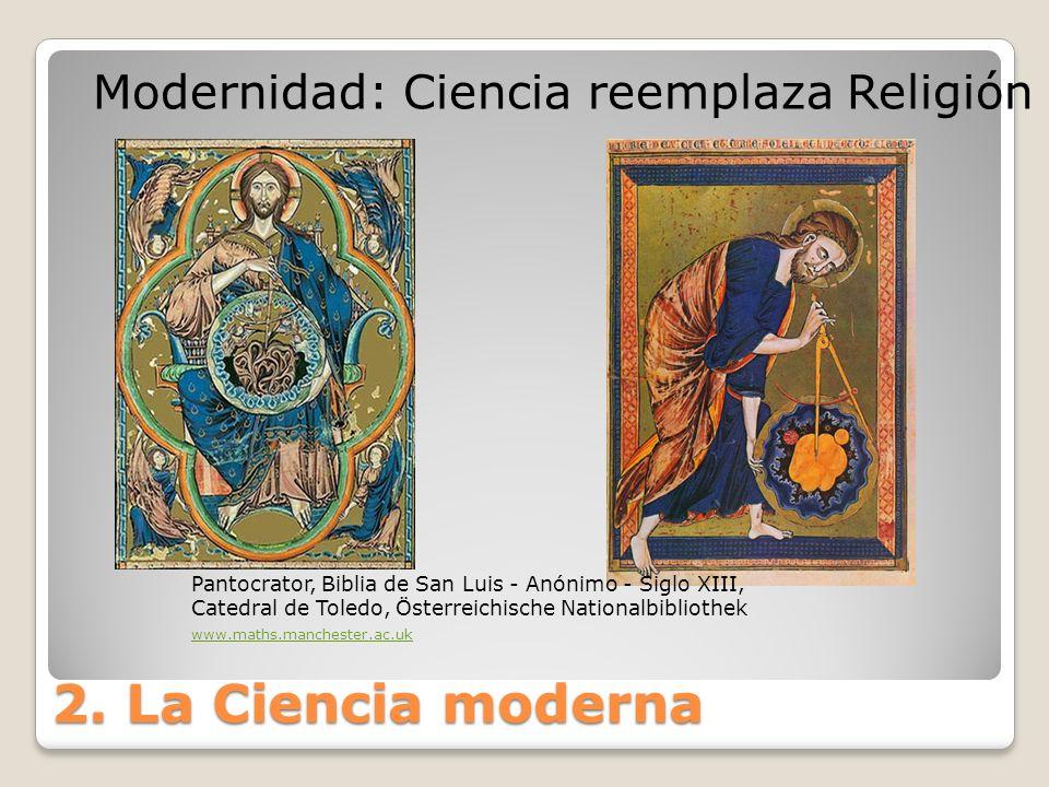 2. La Ciencia moderna Pantocrator, Biblia de San Luis - Anónimo - Siglo XIII, Catedral de Toledo, Österreichische Nationalbibliothek www.maths.manches