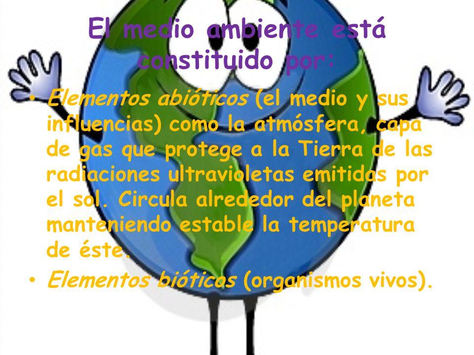 Que es el medio ambiente El concepto de medio ambiente se define como el sustento y hogar de todos los seres vivos que habitan el ecosistema global, c