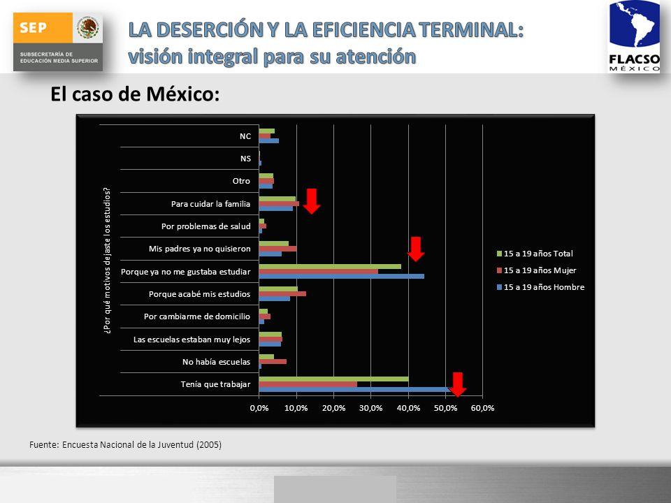 Here comes your footer El caso de México: Fuente: Encuesta Nacional de la Juventud (2005)
