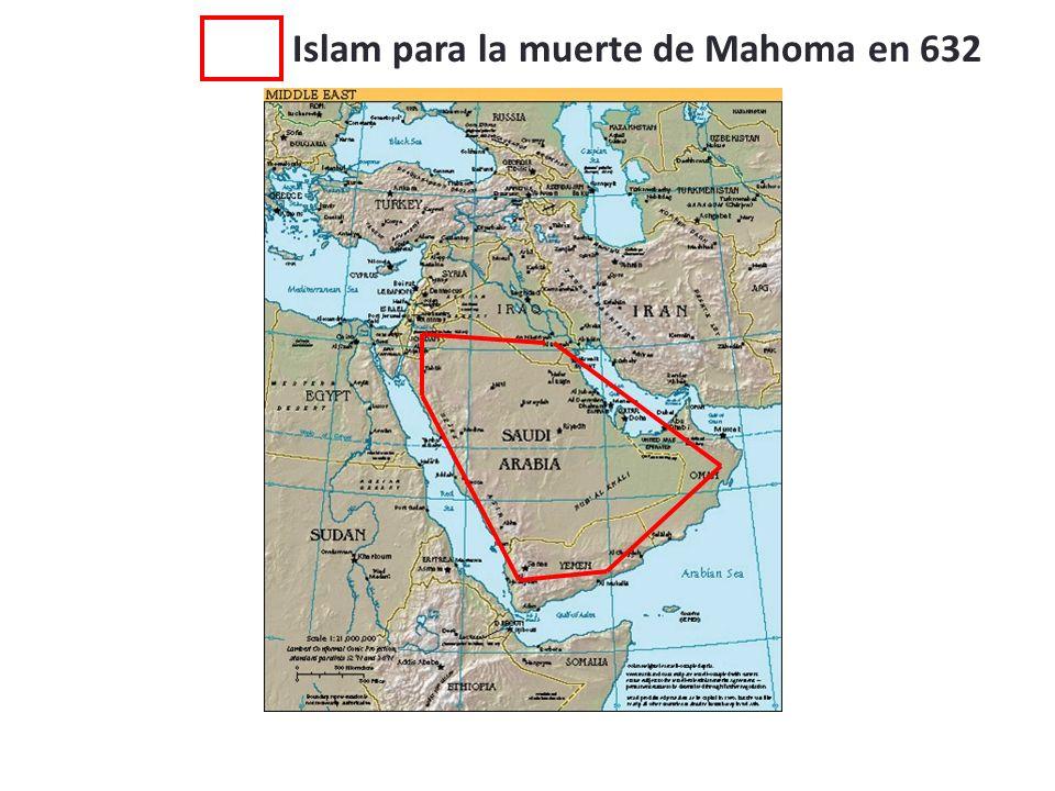Islam para la muerte de Mahoma en 632