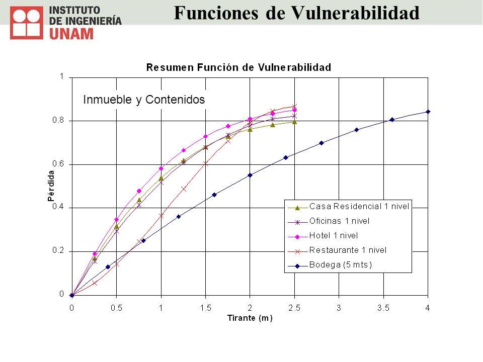 Funciones de Vulnerabilidad Inmueble y Contenidos