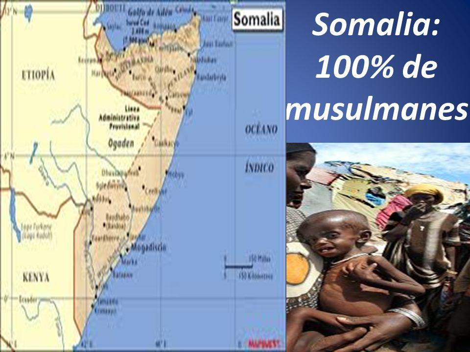 Somalia: 100% de musulmanes